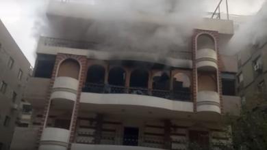 صورة مصرع والد الفنان إيهاب توفيق في حريق منزله