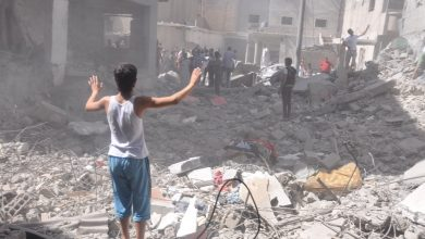 صورة هيومن رايتس: تحالف (الأسد – الروس) ألحق أضرارا بــ 3 ملايين مدني بإدلب