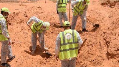 """صورة اكتشاف 5 مقابر جماعية جديدة بترهونة الليبية بعد فرار قوات """"حفتر"""""""