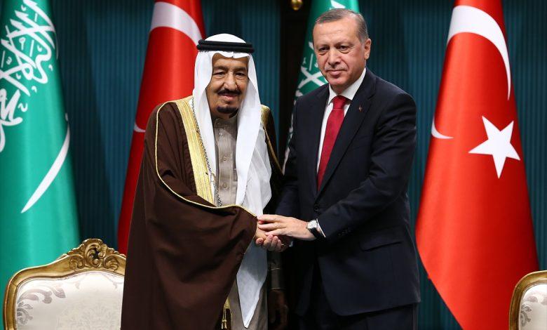 أردوغان والملك سلمان يتفقان على إبقاء قنوات الحوار مفتوحة وإزالة المشاكل