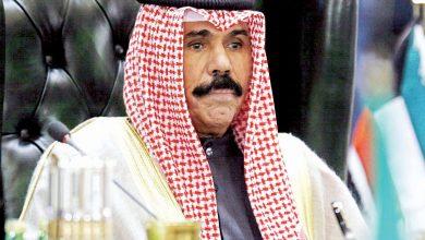 صورة أمير الكويت سعيد باتفاق إنهاء أزمة الخليج
