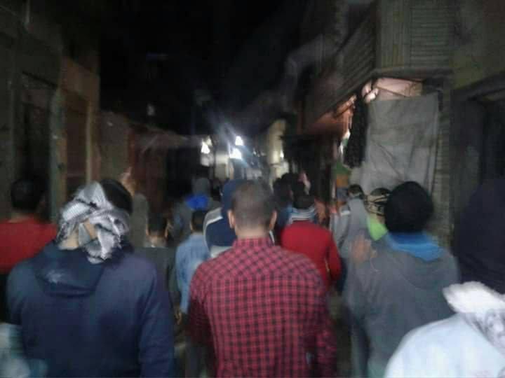 """صورة """" مرسى صان والسيسى خان """" هتاف حركة شباب ضد الانقلاب بحوش عيسى في مسيرة حاشدة"""