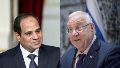 صورة رئيس الاحتلال يبعث برسالة للسيسي: علاقاتنا كنز استراتيجي