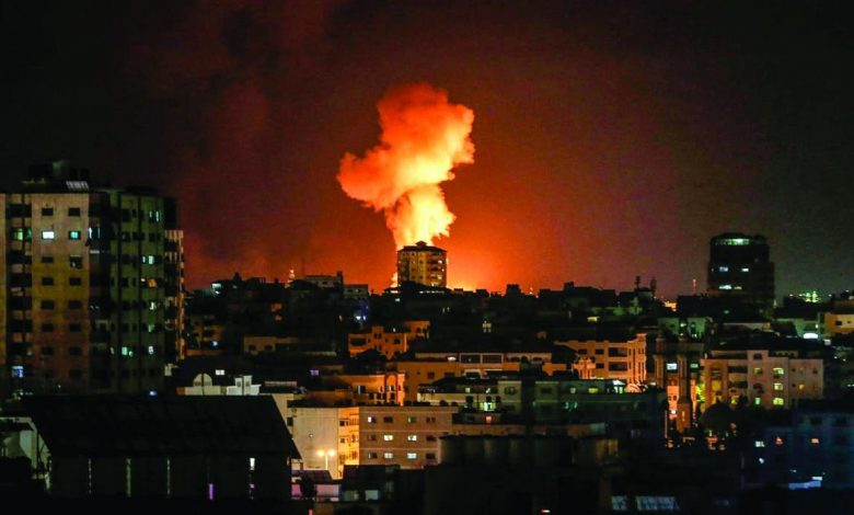 جيش الاحتلال يشن غارات على قطاع غزة